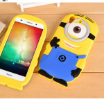 Case Huawei Y6II ซิลิโคน 3 มิติ การ์ตูนมินเนี่ยน สุดกวนน่ารักๆ ราคาถูก