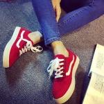 รองเท้าผ้าใบเกาหลี (สีแดง 35-40)
