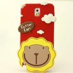 เคส note 3 Case Samsung Galaxy note 3 Butter Lion silicone 3D สิงโตหน้าพระอาทิตย์ น่ารักๆ เคสมือถือราคาถูกขายปลีกขายส่ง