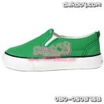 รองเท้าแคนวาสเด็กสีเขียว