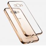 Case Samsung A8 ซิลิโคน TPU โปร่งใสขอบเงางาม ราคาถูก