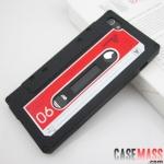 case iphone 5 เคสไอโฟน5 เคสซิลิโคนทำเป็นเทปคลาสเซ็ทเท่ๆ แปลกๆ the retro tape iphone5 phone shell 5G silicone