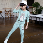 เสื้อ+กางเกง สีฟ้า แพ็ค 5 ชุด ไซส์ 110-120-130-140-150