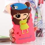 Case iphone 6 (4.7 นิ้ว) ซิลิโคน 3D สามมิติเด็กผู้หญิงสวมหมวกปลาน้อยน่ารักมากๆ ราคาส่ง ราคาถูก ราคาปลีก