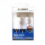 สายชาร์จ Commy ไฟ LED - USB