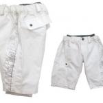 KPSP254-18 Kidsplanet เสื้อผ้าเด็กชาย กางเกงขาสามส่วน เอวซ้อน สีส้ม แถบข้างลายสกรีนแนวสปอร์ต เท่ห์สุด ๆ Size 12M