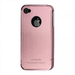 I Phone 4,4S Snap-on Brushed : Pink