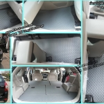 ขายพรมกระดุมปูพื้นรถยนต์เข้ารูปเต็มคัน Chevrolet Cabtiva ลายกระดุมสีเทาขอบเทา