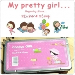 Pretty Girl Sticker&Stamp (Cookys Girl)