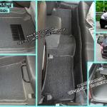สั่งตัดพรมปูพื้นในรถยนต์เข้ารูปเต็มคัน Chevrolet Optra ไวนิลสีเทาขอบเทา