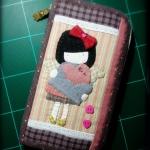 กระเป๋าใบยาว ผ้าทอญี่ปุ่น เทคนิค applique - สั่งทำ