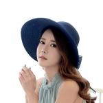 [พร้อมส่ง] H6077 หมวกสาน หมวกไปทะเล แบบผูกริ้บบิ้นผ้า หางยาว งานสวยเก๋ๆ ค่ะ