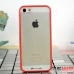 case iphone 5 เคสไอโฟน5 เคสขอบซิลิโคน TPU นิ่มๆ ด้านหลังใส ใส่แล้วสวย