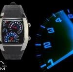 แฟชั่นนาฬิกาข้อมือ LED รุ่น RPM WATCH สีดำ ไฟสีขาว น้ำเงิน ฟรี EMS