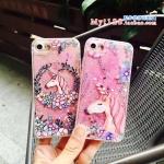 เคส iPhone 7 Plus (5.5 นิ้ว) พลาสติกกากเพชรยูนิคอร์นน่ารักมากๆ ราคาถูก