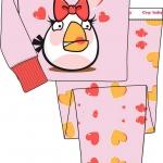 PJC022 ANGRY BIRDS เสื้อผ้าเด็ก ชุดนอน baby Gap งานส่งออก USA Size 2Y