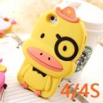 case iphone 4/4s เคสไอโฟน4/4s เคสซิลิโคน 3D เป็ดน้อย สัตว์ตุ๊กตาน่ารักๆ