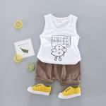 เสื้อ+กางเกง สีขาว แพ็ค 4ชุด ไซส์ 6-8-10-12 (เหมาะสำหรับ 6ด.-4ปี)