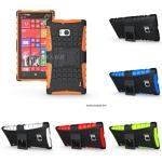 เคส Nokia Lumia 930 เคสกันกระแทกแยกประกอบ 2 ชิ้น ด้านในเป็นซิลิโคนคลุมรอบ คลอบด้วยแผ่นพลาสติกผิวเป็นปุ่มกันลื่น มีขาตั้งกางออกเพื่อตั้งโทรศัพท์ได้ สวยๆ เท่ๆ
