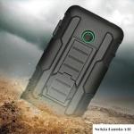 เคส Nokia Lumia 530 Dual SIM เคสกันกระแทก สวยๆ ดุๆ เท่ๆ แนวถึกๆ อึดๆ แนวทหาร เดินป่า ผจญภัย adventure เคสแยกประกอบ 3 ชิ้น ชั้นในเป็นยางซิลิโคนกันกระแทก ครอบด้วยแผ่นพลาสติกอีก1 ชั้น กาง-หุบขาตั้งได้ มีปลอกฝาหน้าแบบสวมสไลด์ ใช้หนีบเข็มขัดเพื่อพกพาได้