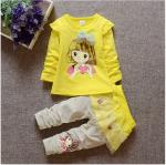 เสื้อ+กางเกง สีเหลือง แพ็ค 4ชุด ไซส์ 70-80-90-100 (เหมาะสำหรับ 1-4ขวบ)