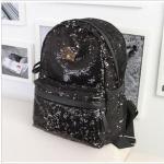 J.estina กระเป๋าแฟชั่นเลื่อมสีดำ