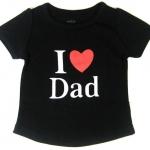 GPM9016 baby Gap เสื้อยืดเด็กหญิง สีดำ แขนตุ๊กตา สกรีนลาย I Love Dad เหลือ Size 4Y/5Y