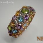 กำไลพลอยแฟนซี (Bracelet fancy gems)