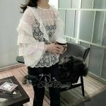 [พร้อมส่ง] เสื้อผ้าแฟชั่นเกาหลี เสื้อลูกไม้เกาหลี ใช้ผ้าลูกไม้เนื้อมีราคา ลายลูกไม้สวยเป็นลายของ summer collection นี้เลย