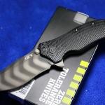Zero Tolerance ZT0303 Folding Tiger Stripe S30V w/ TDLC Coating, 3D Black Handle, Black Plain Edge