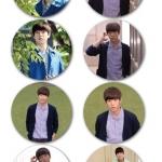 เข็มกลัด Lee Hyun Woo (เซต 8 ชิ้น)