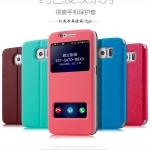 เคส Samsung Galaxy S6 แบบฝาพับหนังเทียมสีพื้นสวยๆ โชว์หน้าจอ ราคาถูก