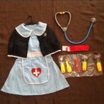 ชุดพยาบาล+อุปกรณ์ตามรูป แพ็ค 3 ชุด ฟรีไซส์ (เหมาะสำหรับ 3-8 ขวบ)