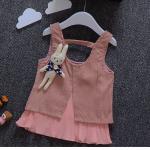 เสื้อ สีชมพู แพ็ค 4ชุด ไซส์ 5-7-9-11
