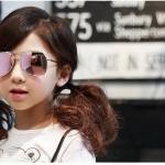 แว่นตา (UV400) เลนส์สีชมพู แพ็ค 5อัน ฟรีไซส์