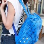 กระเป๋าแฟชั่น(สีน้ำเงิน)MCM