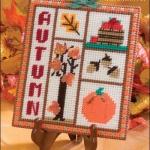 ชุดปักแผ่นเฟรมฤดูกาลลาย Autumn