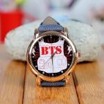 นาฬิกาข้อมือหน้าปัดทอง BTS