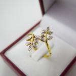 แหวนเพชรใบมะกอก 12 ใบ