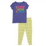 PJA048 เสื้อผ้าเด็ก ชุดลำลอง I love MOM&DAD แนวสปอร์ต baby Gap Made in Malasia งานส่งออก USA เหลือ Size 110