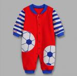 บอดี้สูทแขนยาว ฟุตบอล สีแดง แพ็ค 4 ชุด ไซส์ 3M, 6M, 9M, 12M