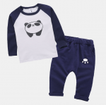 เสื้อ+กางเกง สีกรม แพ็ค 4ชุด ไซส์ 70-80-90-100 (เหมาะสำหรับ 1-4ขวบ)