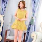 [พร้อมส่ง] เสื้อผ้าแฟชั่นเกาหลี Mini dress งานผ้าลูกไม้ ดีไซน์หรูๆ สวยๆจาก Zara ลสิยค้าชนชอป ลายลูกไม้แบบเดียวกับงานจริง