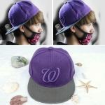 หมวกแฟชั่นเกาหลี Luhan สีม่วง(PYM120)
