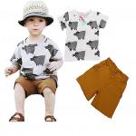 เสื้อ+กางเกง 16045 แพ็ค 5 ชุด ไซส์ 80-90-100-110-120 (เลือกไซส์ได้)