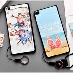 เคส Huawei P8 พลาสติก TPU ยืดหยุ่นได้สกรีนลายน่ารักมากๆ + แหวนที่ตั้งและสายคล้อง ราคาถูก