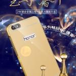เคส Huawei Honor 4X (aLek 4g plus) ขอบเคสโลหะ Bumper + พร้อมแผ่นฝาหลังเงางามสวยจับตา ราคาถูก