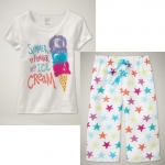 PJA058 เสื้อผ้าเด็ก ชุดลำลอง Icecream แนวสปอร์ต baby Gap Made in Malasia งานส่งออก USA เหลือ Size 80/110