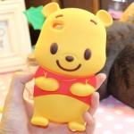 case iphone 4/4s เคสไอโฟน4/4s เคสหมีพู Pooh ซิลิโคน 3D น่ารักๆ