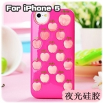 case iphone 5 เคสไอโฟน5 ลายแอปเปิ้ลหลายลูกเลย น่ารักสุดๆ Apple silicone case